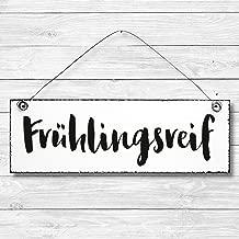 Shabby Holz Deko Wand Tür Schild Dekoschild Frühlingsreif Geschenk Türschild