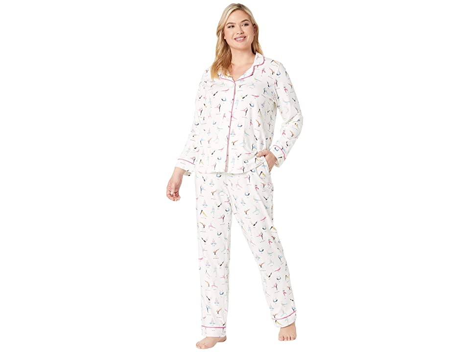 BedHead Pajamas Plus Size Long Sleeve Classic Notch Collar Pajama Set (Namaste) Women