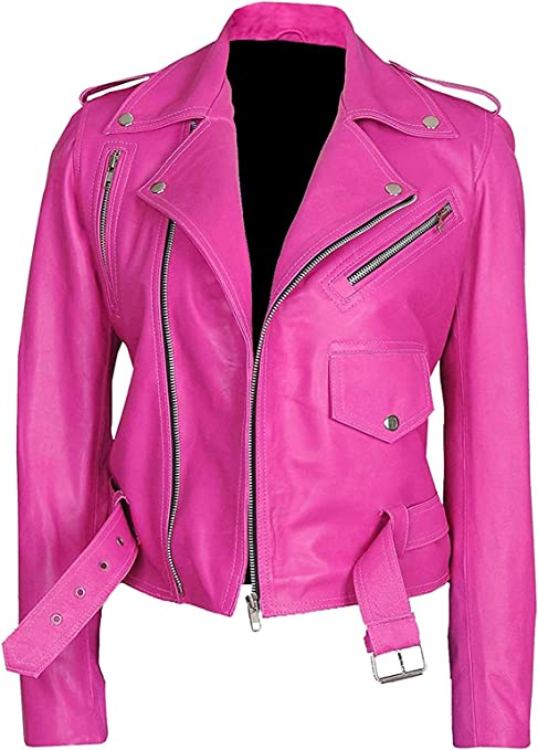 pink leather jackets