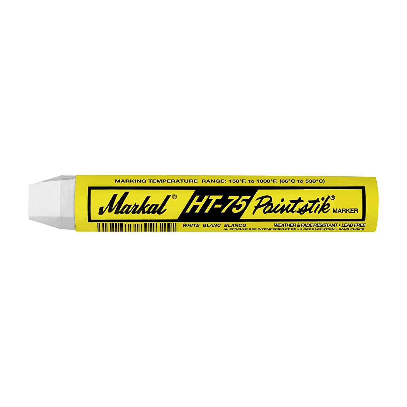 Markal 84820 HT-75 Paintstik Solid Paint Red Hot Surface Marker (200 F - 1000 F), White (Pack of 12)