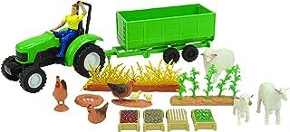 Juego de Animales y Accesorios Newray Farm con Tractor Verde, Animales y Accesorios - Edad 3+