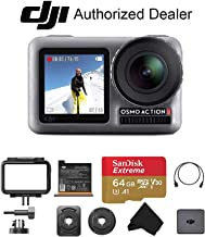 DJI OSMO Action - Dual Display Waterproof Digital Action Camera with 4K HD Video 12MP with 64GB Micro SD Card
