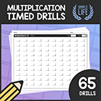 Timed Multiplication Drills –0 to 12 Times Tables Quizzes – Multiplication Worksheet Pack with Answer Keys