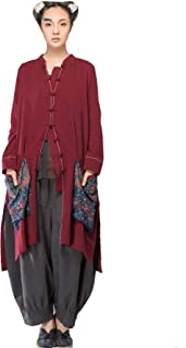 Cardigan Women Casual Ethnic Style Long Sleeve Shirt Blouse Comfy Soft