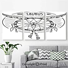 Wall Art Decor 3 Pcs High Definition Printing Native American Dreamcatcher Tribal Folk Pattern with Zodiac Figure Character Print Painting Home Decoration Living Room Bedroom Background,16