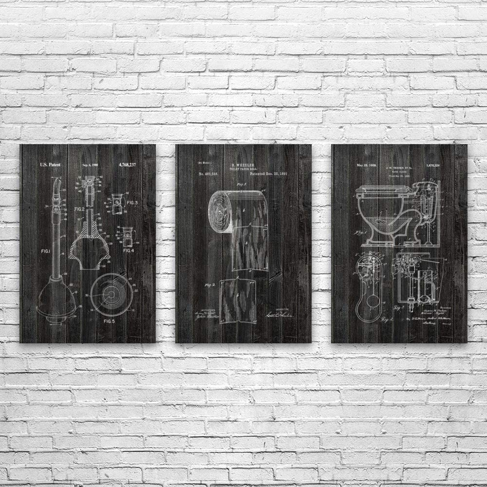 Patent Earth Bathroom Water Closet Posters Baltimore Mall 3 of Plumber Gif Set shop