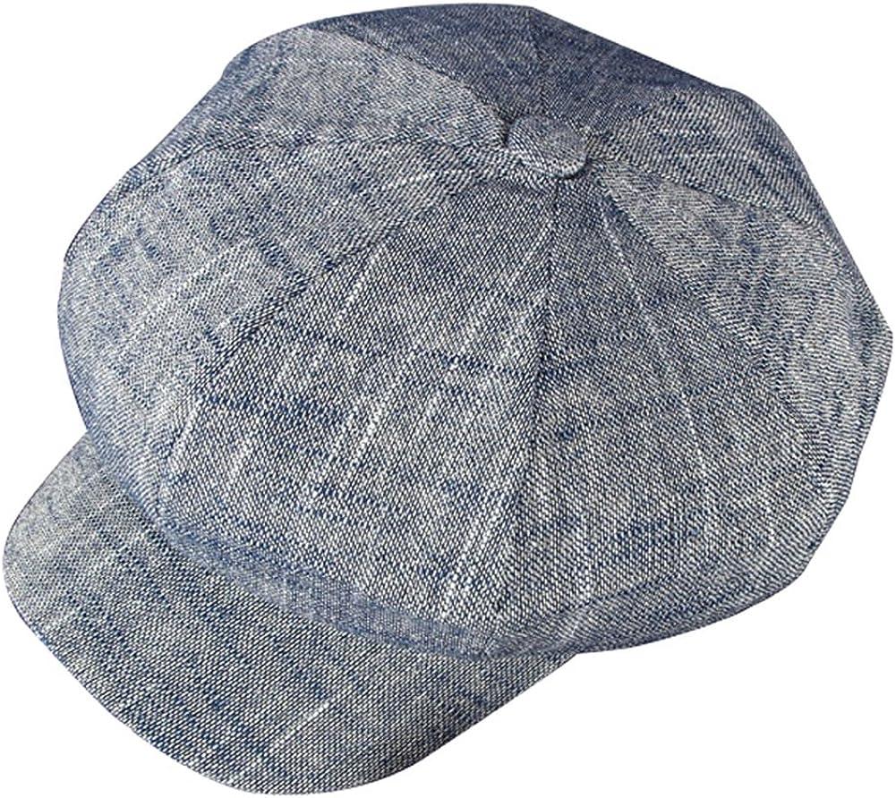 ZLSLZ Women's Gatsby Newsboy Hat Caps Linen Ranking TOP2 Blend Topics on TV Cotton Painter