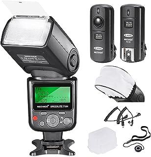 NEEWER プロ i-TTL フラッシュ *デラックスキット* NIKON DSLR D7100 D7000 D5300 D5200 D5100 D5000 D3200 D3100 D3300 D90 D800 D700 D300 D300S D610, D600, D4 D3S D3X D3 D200 N90S F5 F6 F100 F90 F90X D4S D SLRカメラに対応 - キット内容: NEEWER オートフォーカスフラッシュ + カメラ、ストロボやスタジオフラッシュ用の2.4GHz 3-in-1ワイヤレスリモコン +M-コード & B-コードケーブル + ハード&ソフトフラッシュディフューザー + レンズキャップホルダー 【並行輸入品】