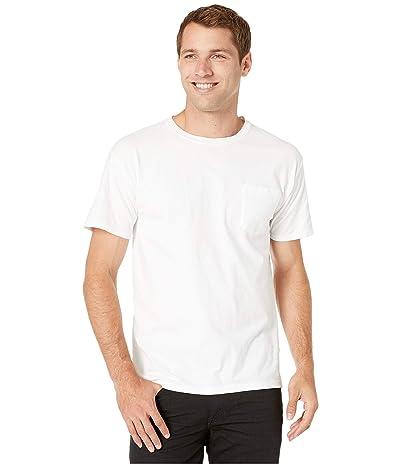 Hanes ComfortWashtm Garment Dyed Short Sleeve Pocket T-Shirt (White) Men