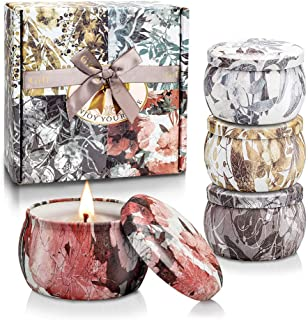 BlissTrip Duftkerzen Geschenkset für Frauen, 4 Pack SojaWachs Kerze, 4  4.4 Oz, für Aromatherapie Geschenk zum Muttertag, Weihnachten,Geburtstag, Valentinstag, Aromatherapie