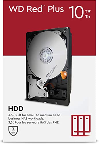 """high quality WD new arrival Red Plus 10TB NAS 3.5"""" Internal Hard Drive - 7200 RPM Class, SATA 6 Gb/s, CMR, 256MB outlet online sale Cache outlet sale"""