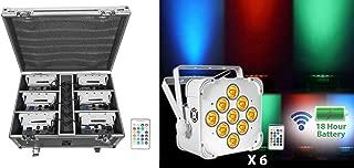 Rockville Battery Wash Lights+Wireless DMX+Charging Case, BEST PACK 60 White)