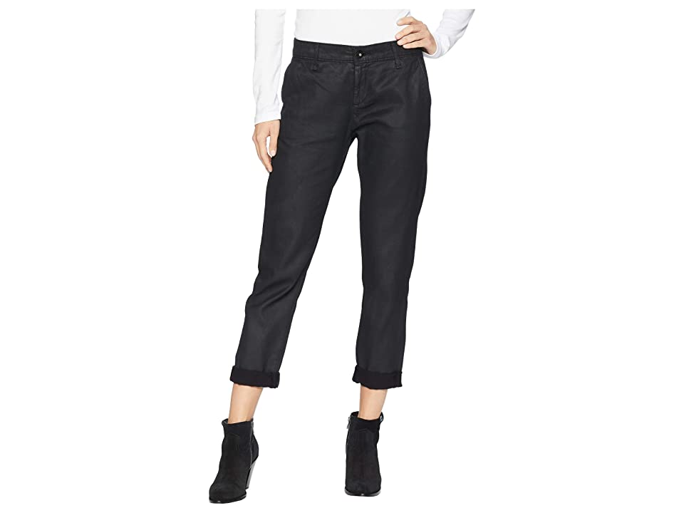 Image of AG Adriano Goldschmied Caden in Leatherette Light/Super Black (Leatherette Light/Super Black) Women's Jeans