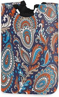 Panier à linge Tribal Floral Paisley Panier à linge pliable Oxford Sac à vêtements sales Organisateur de rangement de joue...