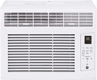 GE AHQ06LZ Window Air Conditioner with 6000 BTU Cooling Capacity, 3 Fan Speeds, 115 Volts, in White