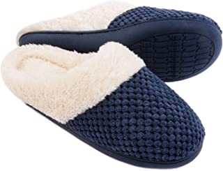 ULTRAIDEAS Women's Comfort Coral Fleece Memory Foam Slippers Fuzzy Plush Lining Slip-on Clog House Shoes for Indoor & Outd...