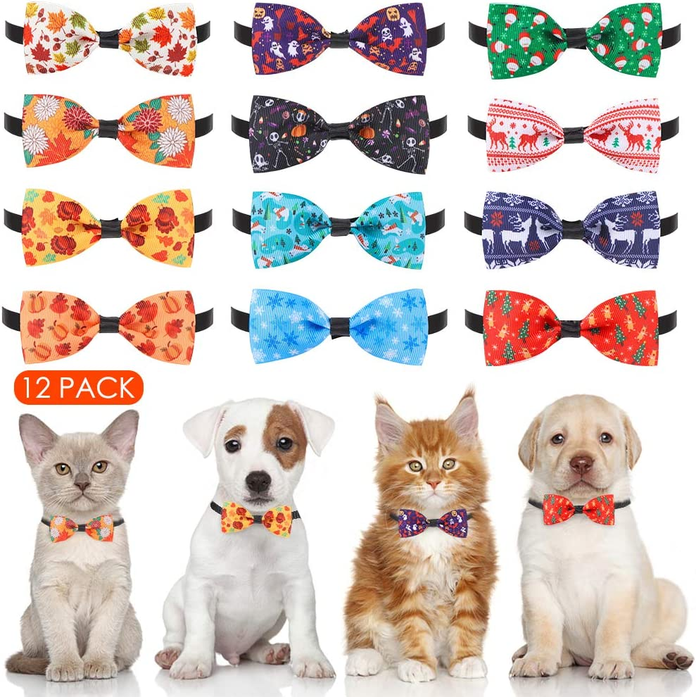 Dog Bow Ties 40% OFF Cheap Sale Collar 13 Pack Soft Adjustable security - Autumn Halloween C