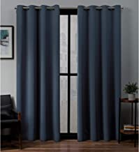 Exclusive Home Curtains Sateen Panel Pair, 52x84, Vintage Indigo