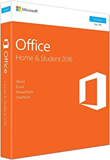Office 2016 Home and Student - English - New - 1 PC - Box - KeyCard - Word Excel PowerPoint OneNote - Office Home and Stud...