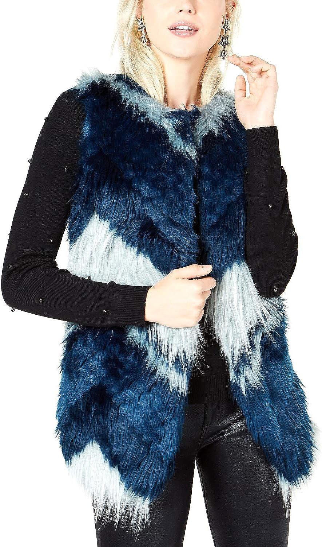 Bar Iii Womens Patchwork Outerwear Vest