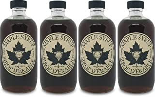 Sinai Gourmet PURE GRADE A MAPLE SYRUP - Grade A DARK SYRUP with STRONG delicious maple taste (4-PACK)