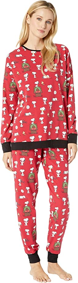 Long Sleeve Pullover Jogger Pajama Set