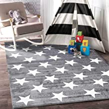 Home Culture Kids Stars Charcoal White for Bedroom, Living Room, High Traffic Areas of Home and Office (160x230cm)