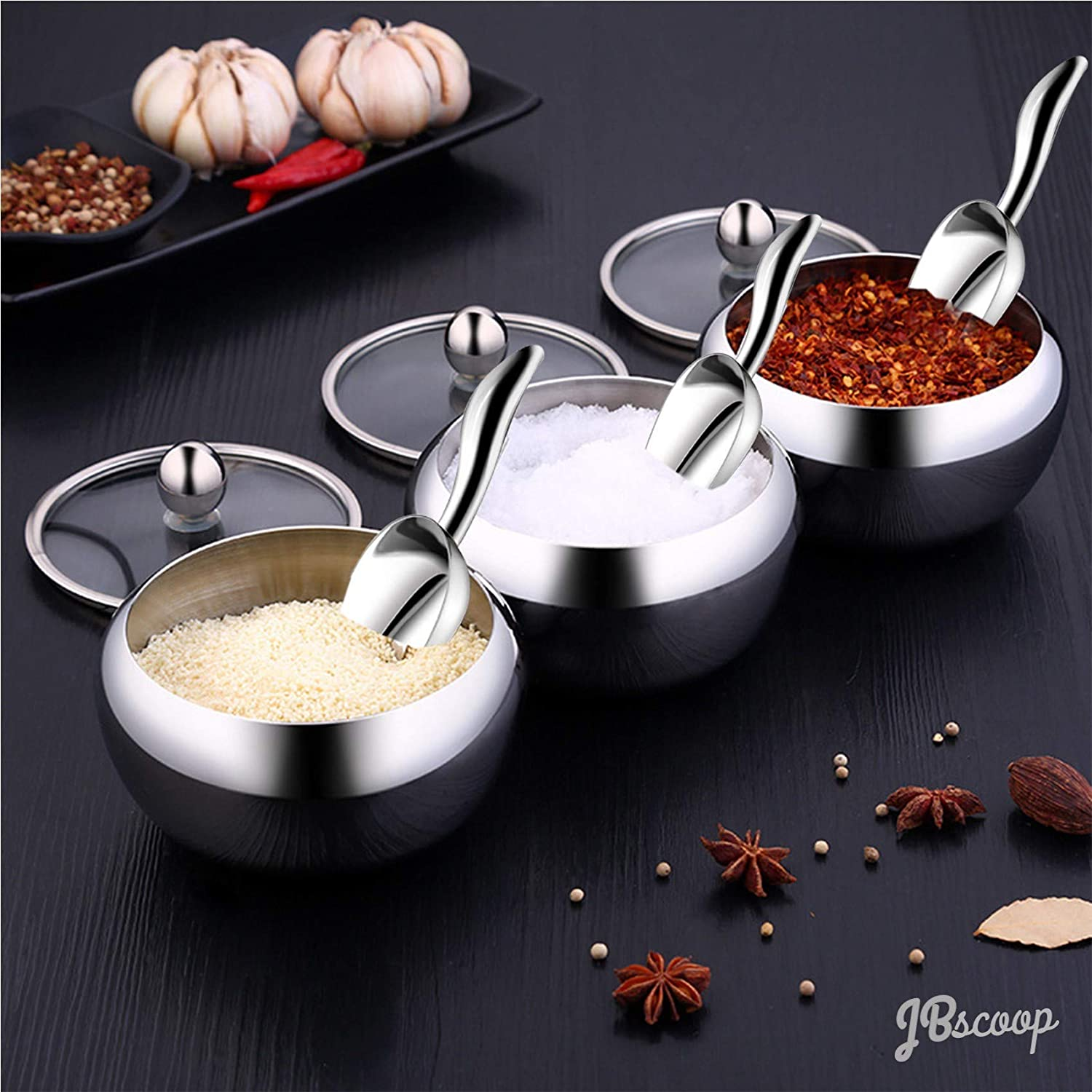 Protein Powder Heavy Duty Dishwasher Safe/… Small Ice Scoops Canister Scoop Shaped Set of 4 Sugar Mini Scoop 3 Ounce Stainless Steel Kitchen Utility Scoops For Ice Cube Coffee Bean