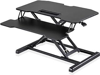 Fenge Bureau Assis Debout Moyen Noir 32''/80cm Bureaux et postes de Travail avec Plateau pour Clavier Sit to Stand Hauteur...