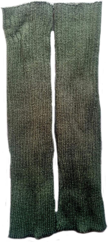 Ewanda store Women 80s Ribbed Leg Warmers Knitted Wool Crochet Long Boot Socks for Party Dance Sports Yoga Accessories