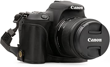 MegaGear Ever Ready Leather Camera Half Case Compatible with Canon EOS 250D, Kiss X10, Rebel SL2, Kiss X9