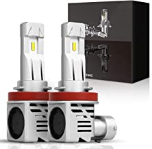 HIMA 4X4 H11 H9 H8 LED Headlight Bulbs 55W 8000LM Lumileds Chip 1:1 Original Factory Bulbs With Fan Xenon White All In One Headlight Bulbs Conversion Kit, 1 Year Warranty