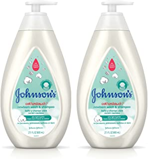 Johnson's CottonTouch Newborn Baby Wash & Shampoo with No More Tears,..