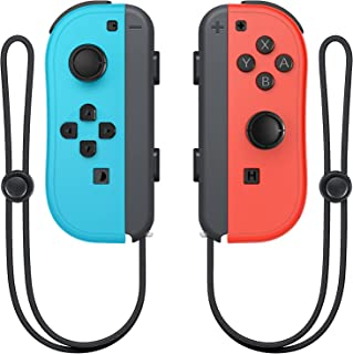 Wireless Switch Joycon Controllers, D.Gruoiza Joy Con Controller Compatible for Switch Support Wake-up Function with Wrist...