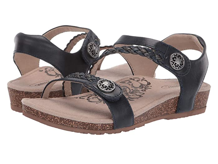 Aetrex  Jillian Quarter Strap (Navy) Womens Sandals
