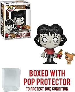 Funko Willow & Bernie: Don't Starve x POP! Games Vinyl Figure & 1 POP! Compatible PET Plastic Graphical Protector Bundle [#403 / 34691 - B]
