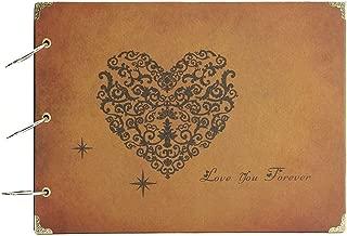 ThxMadam Album de Fotos,DIY Álbum de Fotos Libros de Firmas para Boda Scrapbooking Album Cuaderno Diario de Viaje Vintage Regalo Original para Aniversario Navidad Boda Cumpleaños