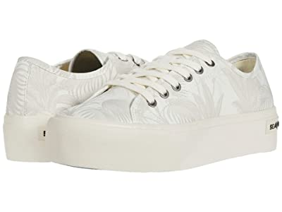 SeaVees Monterey Platform Palm (Off-White Palm) Women