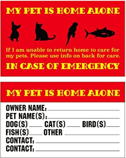 RXBC2011 Pet Emergency Cards My Pet is Home Alone