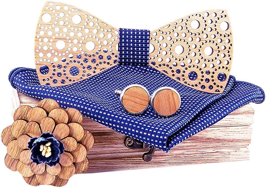 Stoota Mens Wooden Bow Tie, Necktie Eco Friendly Bowtie Suitable for Any Necks Wedding Groomsman Gift