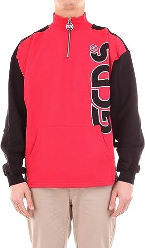 GCDS Luxury mode Homme FW19M02001003 Rouge Sweatshirt   Saison Outlet