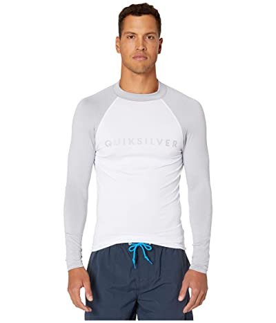 Quiksilver Always There Long Sleeve Rashguard (Light Grey Heather) Men