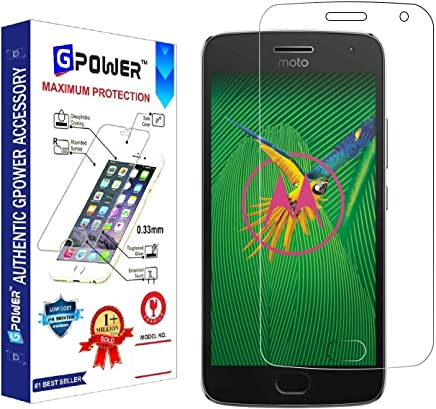 G-POWER ®2.5D 0.3mm Tempered Glass Screen Protector for Motorola Moto G5 Plus with Installation Kit