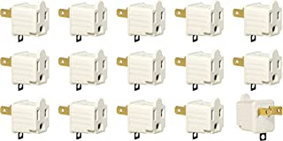 3-Prong To 2-Prong Adapter Grounding Converter 3 Pin To 2 Pin Power AC Ground Lifter for Wall Outlets Plugs, Electrical, Household, Workshops, Industrial, and Appliances, Color Light Gray. (15 Pack)