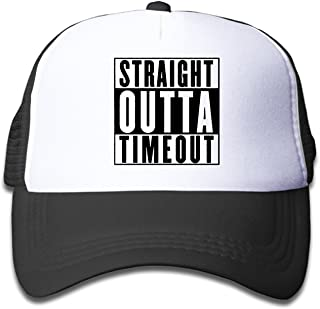 Waldeal Boys&Girls Straight Outta Timeout Two-Toned Baseball Cap Hats Black