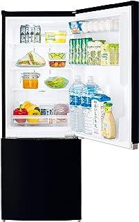 東芝(TOSHIBA) 【一人暮らし】【コンパクト】 【収納充実】 2ドア ミニ冷凍冷蔵庫 153L GR-R15BS-K セミマットブラック