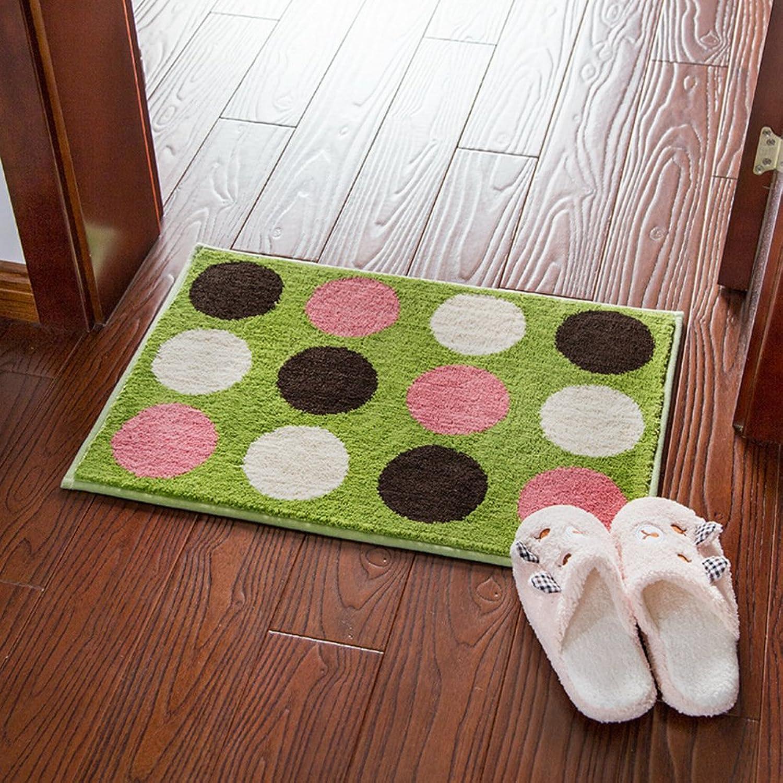 DXG&FX Microfiber jacquard water-absorbing mats bathroom non-slip mats floor mat doormat balconies mats-A 45x65cm(18x26inch)