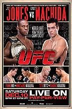 Pyramid America Official UFC 140 Jon Jones vs Lyoto Matchida Sports Laminated Dry Erase Sign Poster 12x18