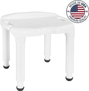 Vaunn Medical Spa Bathtub Shower Chair Heavy Duty Bath Seat Bench(Tool-Free Assembly)