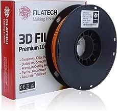 Filatech 3D Printing PETG Filament, 1.75 mm +/- 0.03 mm, 0.5 Kg Spool, 100% Virgin Material, Made in UAE Dark Orange Pg110